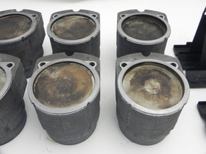 (Used) 930 Turbo Set of 6 Mahle Pistons and Cylinders 3.3L - 1978-89