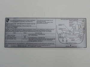 (New) 911SC Emission Decal - 1983