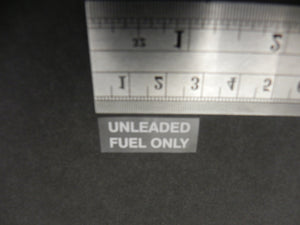 (New) 911 Unleaded Fuel Only Decal