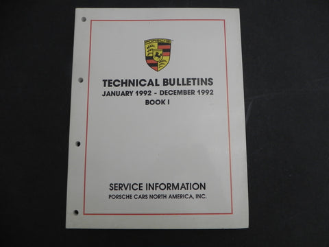 (Used) 911/924/968/928 Technical Bulletins 1992