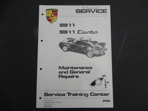 (Used) 911/911 Turbo Maintenance and General repairs 1965-84