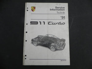 (Used) 911 Turbo Service Information 1991
