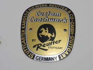 (New) 356 A Large Reutter Badge - 1955-59