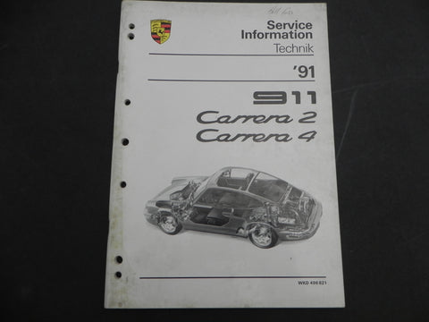 (Used) 911 Carrera 2/4 Service Information Manual 1991