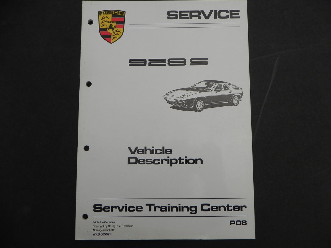 (Used) 928S Service Vehicle Description & Maintenance Manuals