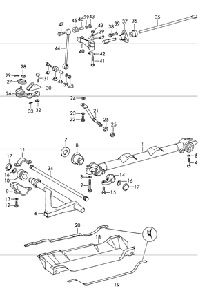 (New) 911/912 Sway Bar Bracket - 1965-73