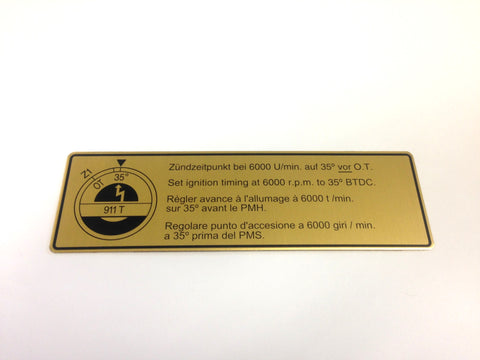 (New) 911T Timing Decal - 1969-73
