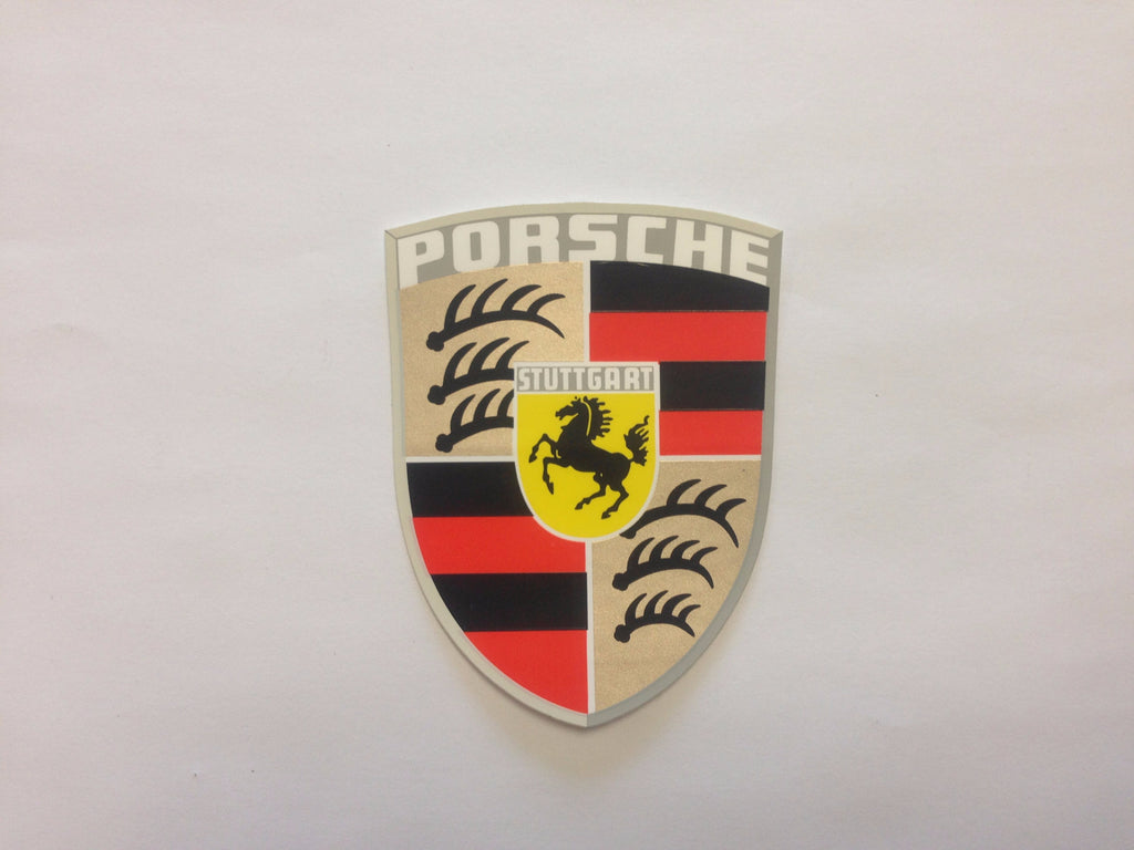 Nos Porsche Crest Decal Aase Sales Porsche Parts Center