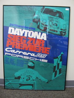 Framed Carrera RS Green Seigzur Daytona Poster