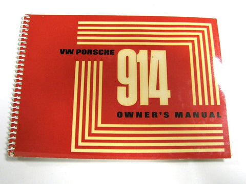 (Original) 914-4 English Owners Manual  - 1971