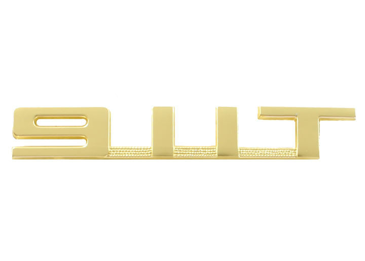 (New) 911 T Gold Rear Engine Lid Emblem - 1969-71