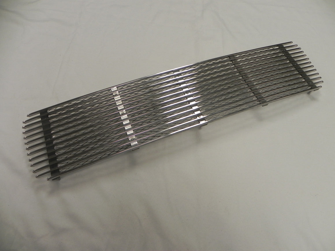 (New) 911 Silver 5 Bar Engine Lid Grille - 1969-71
