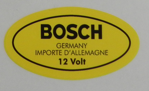 (New) 356/912 Bosch 12v Ignition Coil Decal - 1950-69