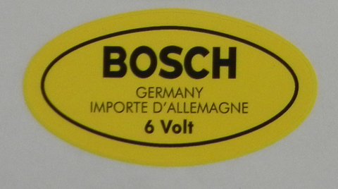 (New) 356 Bosch 6v Ignition Coil Decal - 1950-65