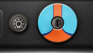 (New) 911/930 Ignition Switch Trim Cover [Gulf] - 1974-98