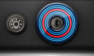 (New) 911/930 Ignition Switch Trim Cover [Martini] - 1974-98