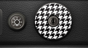 (New) 911/930 Ignition Switch Trim Cover [Pepita] - 1974-98