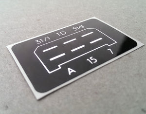 (New) 911 SC/Carrera CDI Ignition Module Box Decal - 1978-89