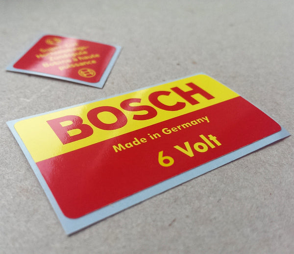 (New) 356 6v Bosch Decal Set - 1950-65