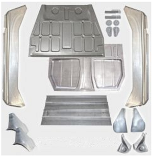 (New) 356 BT6/C Complete Floor Pan Kit - 1962-65