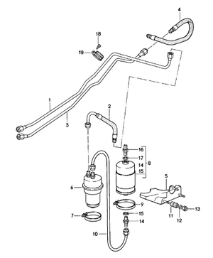 (New) 911SC Fuel Hose on Return Line - 1980-83
