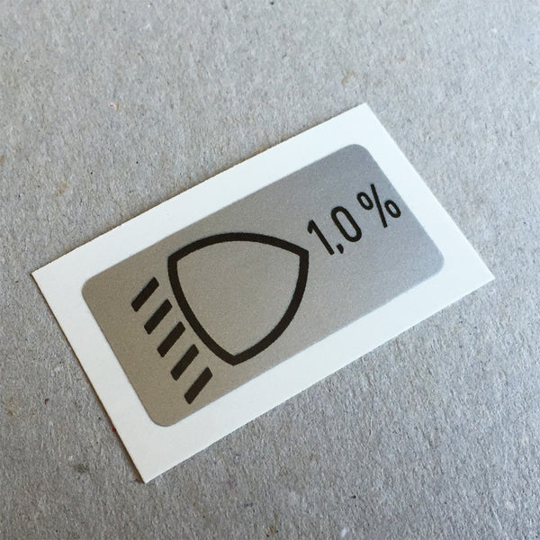 (New) 964 Headlights Position Decal - 1989-94