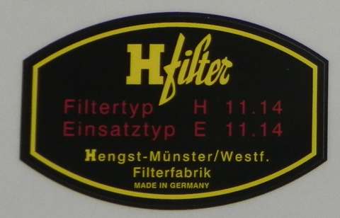 (New) 356/912 H-filter Oil Filter Decal - 1950-69