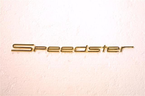 (New) 356 Speedster Gold Emblem - 1955-58