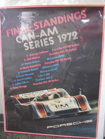 917-10 Can Am Series George Follmer Poster - 1972