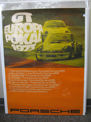 911 GT Europa Pokal Sampson Car Poster