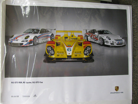 RS Spyder, GT3 RSR, GT3 Cup Poster