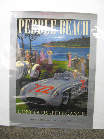 Pebble Beach - Mercedes Poster