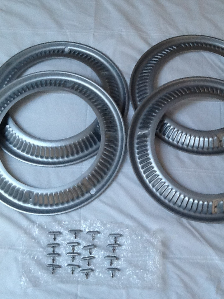 (New) 356 Continental Turbine Wheel Trim Set and T-Bolts - 1950-55