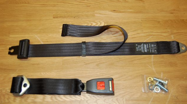 (New) 911/912/930 Pair of Red or Black Rear Two Point Seat Belts - 1965-93