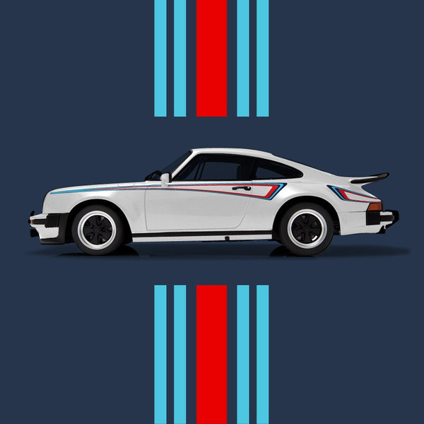 New 911 930 M42 Martini Side Stripes Livery Kit 1975
