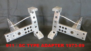 (New) 911 F/G Light Aluminum ST/RS/RSR Bumper Corner Mounts - 1973-95