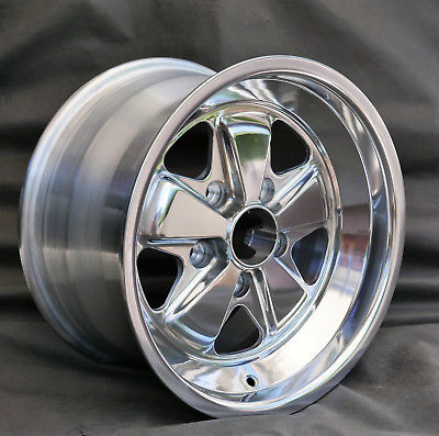 New 911 914 6 930 944 Reproduction 7j X 16 Fuchs Full Polished Wheel Aase Sales Porsche Parts Center
