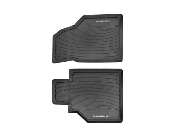 (New) 986/996 Black Rubber All-Weather Floor Mats - 1997-2005