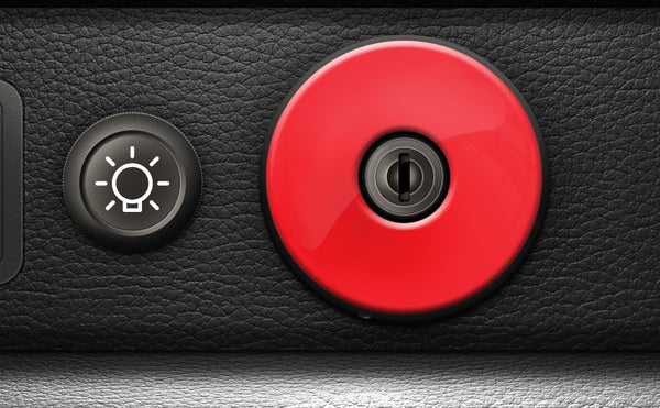 (New) 911/930 Ignition Switch Trim Cover [Red] - 1974-98