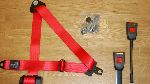 (New) 911/912/930 Pair of Red or Black Front Seat Belts - 1965-93