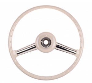 (New) 356, 356A Banjo Steering Wheel Ivory 400mm - 1952-59