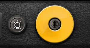 (New) 911/930 Ignition Switch Trim Cover [Yellow] - 1974-98
