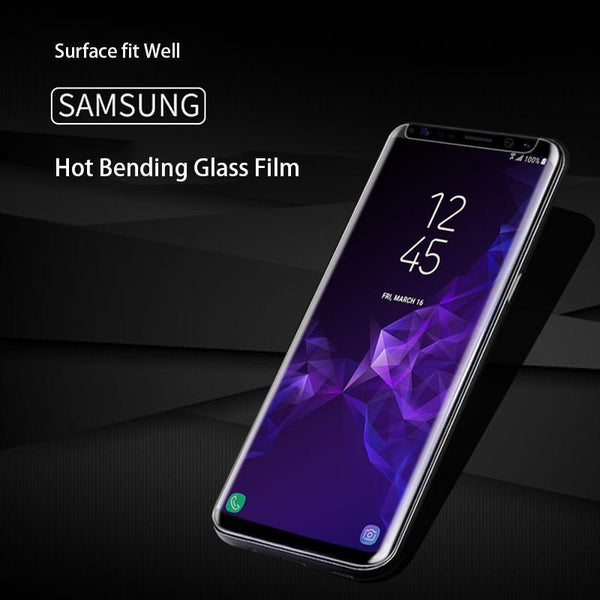 7D Hot Bending Full Glue Coverage Tempered Glass Screen Protector for Samsung Note 8 Note 9 S8 S9 Plus