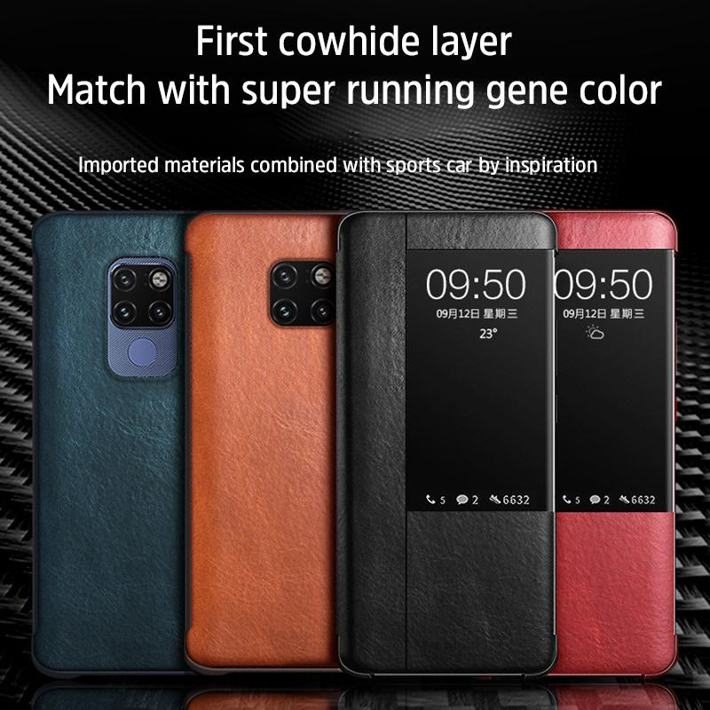 HUAWEI mobile phone leather case all-inclusive smart window cover protector