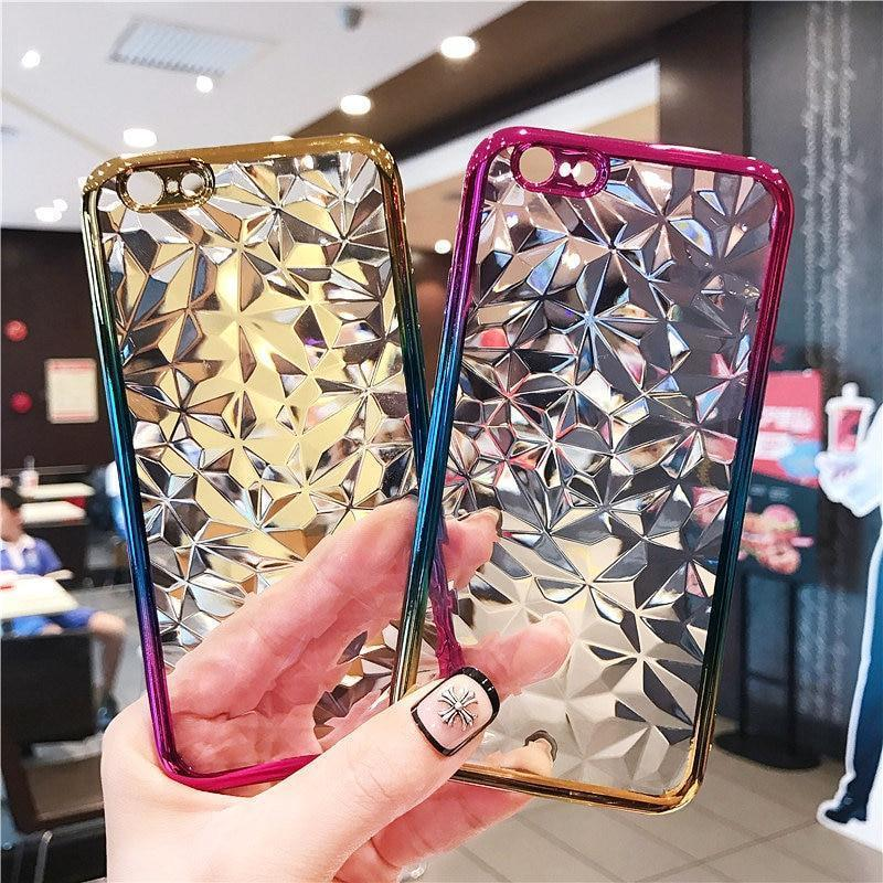 Dual Color Crystal Gradient Case For iPhone 6/6s/iPhone 6Plus/6sPlus/iPhone7/8/iPhone7Plus/8Plus/iPhone X/iPhone XR/iPhone XS Max