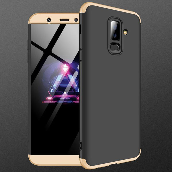 3 in 1 Double Dip 360° Hard PC Protective Case For Samsung Galaxy A6 Plus 2018