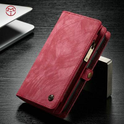 CaseMe For Huawei P20 P20Pro P20Lite Wallet Case Premium Zipper Leather Purse with Detachable Flip Magnetic Cover 11 Credit Card Slots