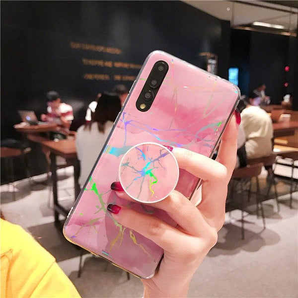 Beily Laser Marble Phone Case for Huawei P20 P20Pro P20Lite