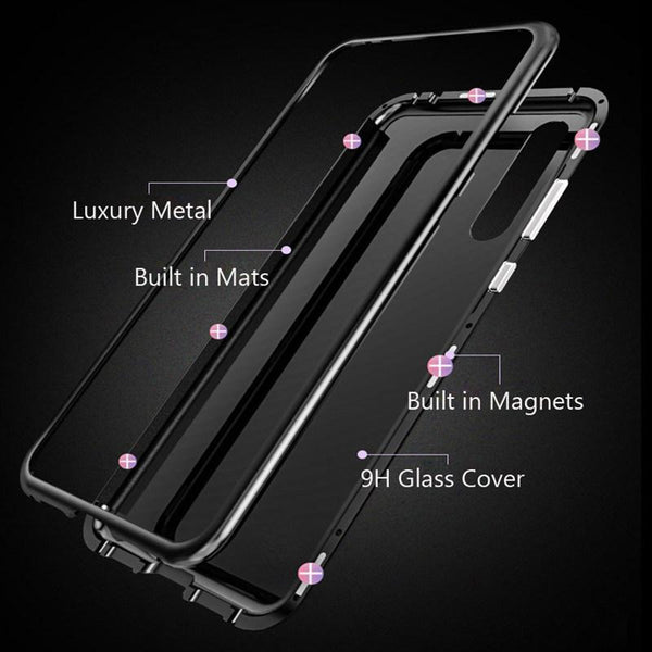 Magnetic Adsorption Flip Phone Case for HUAWEI Y9 2019
