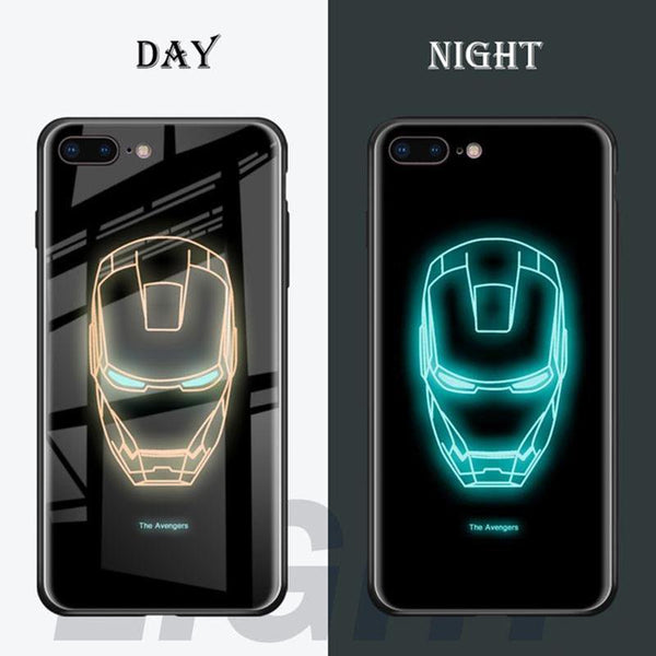 free shipping ab28c a4e13 Luminous Glass Case Luxury Tempered Glass Cover Case or iPhone X/XR ...